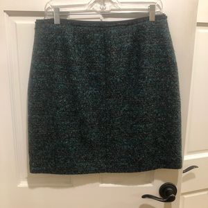 Ann Taylor tweed skirt in browns & greens.